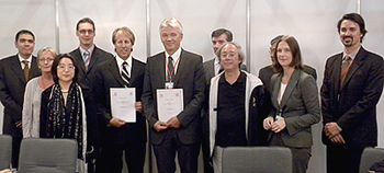 At the ICANN and UNESCO Letter of Intent signing ceremony during the IGF in Vilnius